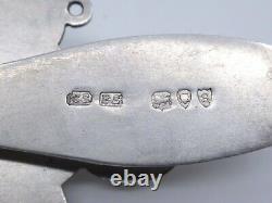 Clavet clavier ancien en argent massif émaillé XIXeme chatelaine
