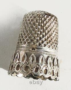 Coffret boite Nécessaire de couture Ancien XIX ARGENT French sewing box etui