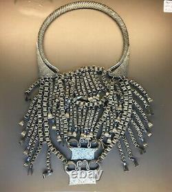 Collier Argent Ethnie Hmong Miao Laos poids 1222 grammes antique ancien