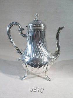 Fray Fils Ancienne Jolie Verseuse Cafetiere Argent Massif De Style Louis XVI