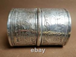 Grand Bracelet Manchette Ancien Argent Massif 114 Grammes Ethnique