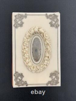 Luxueux ancien carnet matière noble & argent XIXe Antique notebook