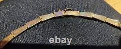 Magnifique collier ancien Art Déco Argent Massif et Lapis-lazuli en coffret 950