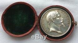Medaille Ancienne De Napoleon III Empereur 1864 Par Barre En Argent Massif