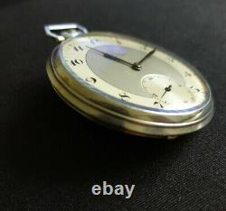 Montre Ancienne Gousset Omega Argent. Old Silver Pocket Watch. 37.6 Cal