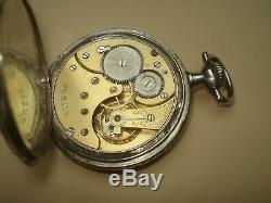 Montre à Gousset OMEGA Ancienne Argent Niellé à Réviser / Antique Watch