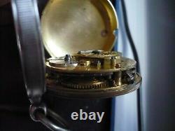 Montre gousset ancienne à coq signée DUFOUR à MONTPELLIER en argent, 48mm