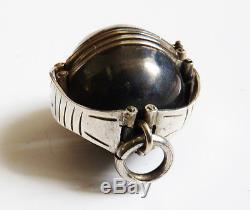 Pendentif boule porte-photos dépliant argent Bijou ancien silver frame picture