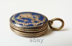 Petit pendentif reliquaire en argent Foi Espérance Charité ancien reliquary