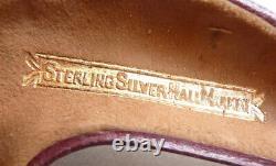Pipe ancienne en écume de mer + ambre + argent massif Angleterre 1904