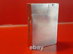 RARE Ancien briquet essence Argent massif type DUNHILL prototype collection