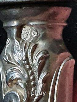 RAVINET D'ENFERT 6 ANCIENS COUVERTS à POISSON GRAVÉS ARGENT FOURRÉ MERCURE XIXè