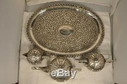 Service The Ancien Argent Massif Antique Solid Silver Tea Set Chinese Ottoman