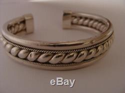 Superbe ancien bracelet argent Jonc ouvert bijou argent massif