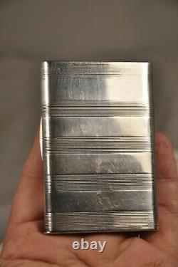 Tabatiere Pyrogen Ancien Argent Massif Antique Solid Silver Vesta Case Snuff Box