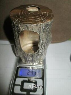 Tres rare ancien briquet année 70 boucheron or et argent massif poincons aigle